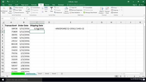 Date limitations using formulas: Excel 2016: Data Validation in Depth