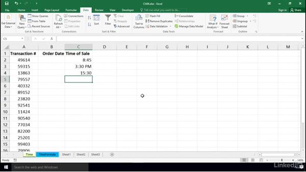 Time limitations with basic controls: Excel 2016: Data Validation in Depth