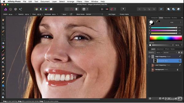Adding filters to frequency-separated layers: Affinity Photo: Basic Portrait Retouching