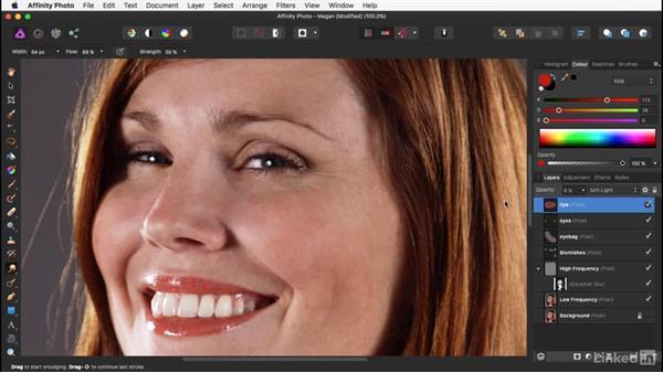 Painting the lips: Affinity Photo: Basic Portrait Retouching