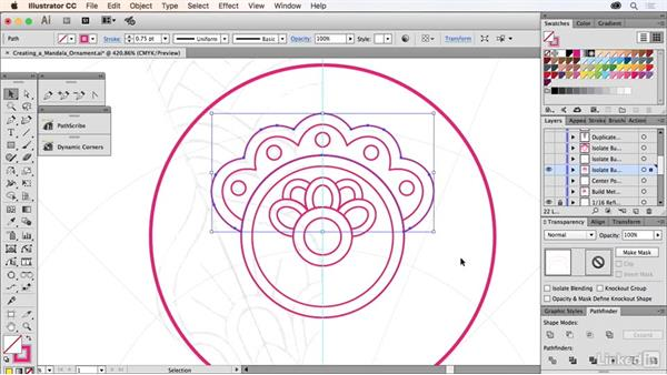 Creating a mandala ornament design: Drawing Vector Graphics Laboratory
