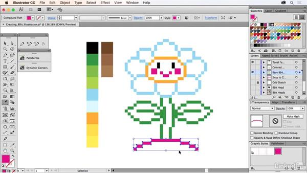 Creating an 8-bit illustration: Drawing Vector Graphics Laboratory