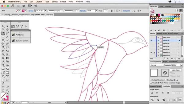 Creating a bird illustration: Drawing Vector Graphics Laboratory
