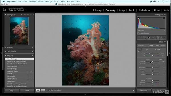 Setting up your Lightroom workspaces: Underwater Photography: Wide Angle
