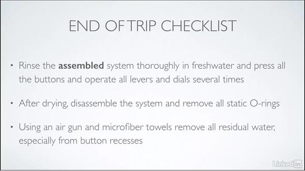 End of trip checklist: Learning Underwater Photography