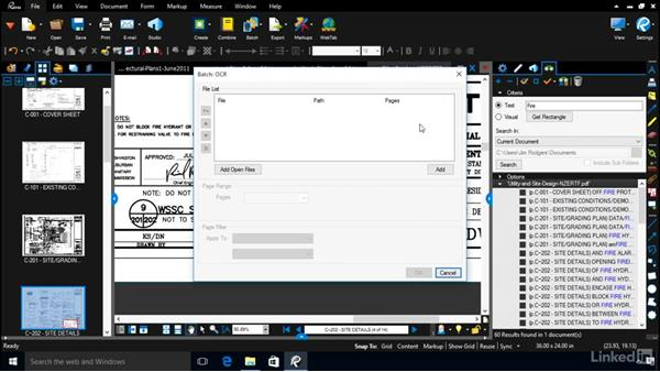 Other options for batch processing: Bluebeam: Managing Construction Drawings Digitally