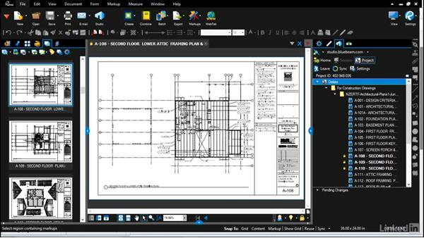 Sharing drawings with the project team: Bluebeam: Managing Construction Drawings Digitally