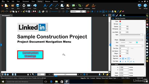 Building a project navigation menu: Bluebeam: Managing Construction Drawings Digitally