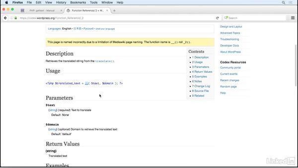 Translate strings: WordPress and Internationalization