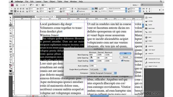 Designing body text: Designing a Newsletter