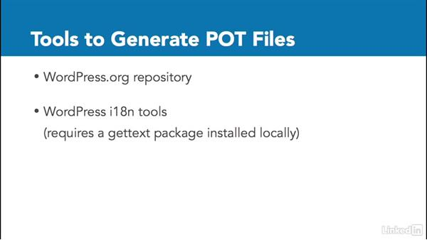 Tools to generate POT files: WordPress and Internationalization