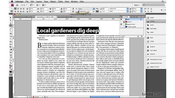 Designing headlines: 36, 24, 16, 12: Designing a Newsletter