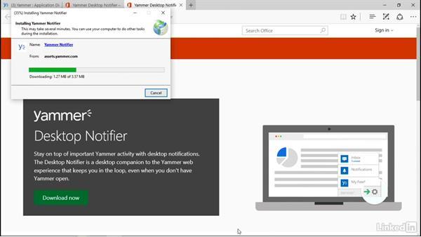 Download the Windows Desktop Notifier: Yammer 2016 Essential Training