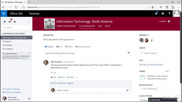 View and join a group: Yammer 2016 Essential Training