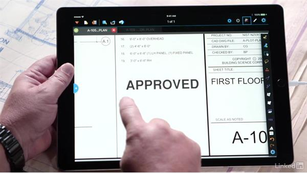 Mark up drawings and documents: Bluebeam: On the iPad
