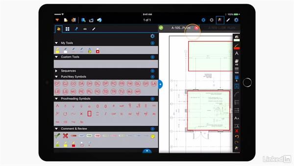 Customizing the markups: Bluebeam: On the iPad