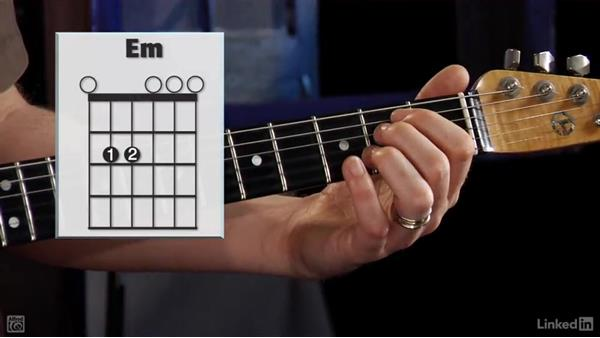 Six String E Minor Em Chord