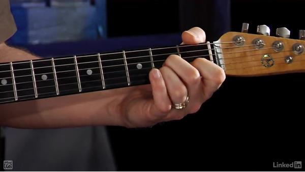 Four-string D7 chord: Rock Guitar: Teach Yourself to Play
