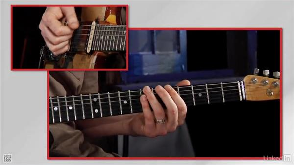 Move up the neck on the 6th string: Rock Guitar: Teach Yourself to Play