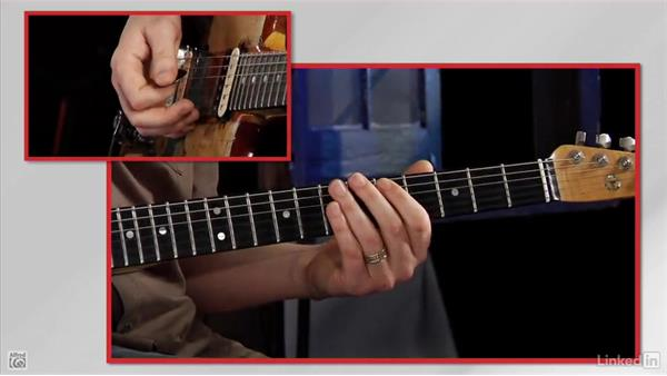 Moving up the neck on the 5th string: Rock Guitar: Teach Yourself to Play
