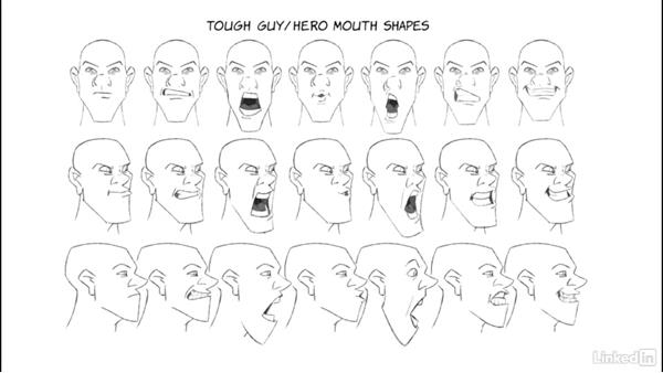 Realistic male mouth shapes: 2D Animation: Tips & Tricks