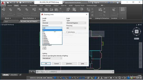 Drawing units: AutoCAD Facilities Management: Occupancy
