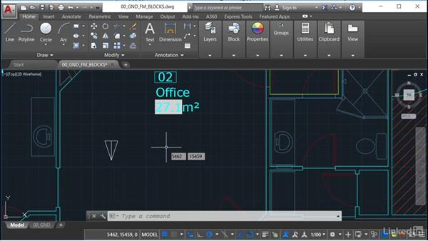 Using object snaps: AutoCAD Facilities Management: Occupancy
