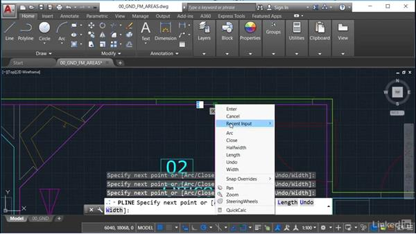 Using object snaps and centerlines: AutoCAD Facilities Management: Occupancy