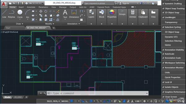 Using lineweight (LWT): AutoCAD Facilities Management: Occupancy