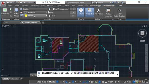 Using hatches and gradient fills: AutoCAD Facilities Management: Occupancy