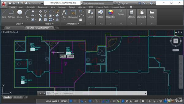 Text styles: AutoCAD Facilities Management: Occupancy