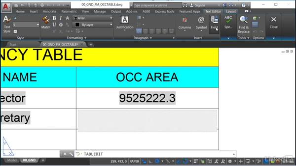 Linking polyline areas to table fields: AutoCAD Facilities Management: Occupancy