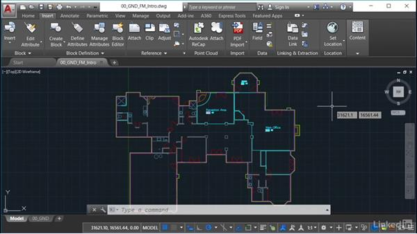 Using the exercise files: AutoCAD Facilities Management: Space Management