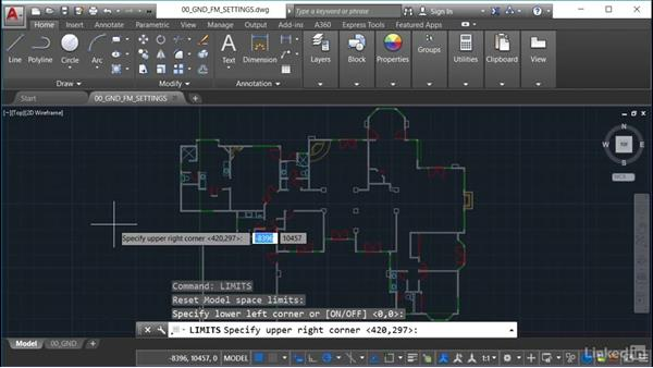 Drawing limits: AutoCAD Facilities Management: Space Management