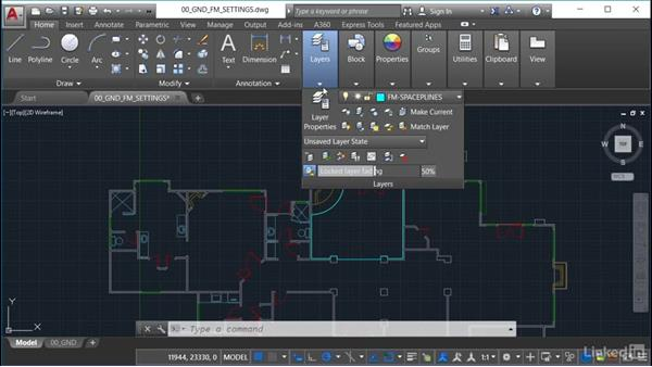 Setting gradient fills: AutoCAD Facilities Management: Space Management