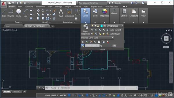 Setting gradient fills: AutoCAD Facilities Management: Space Management