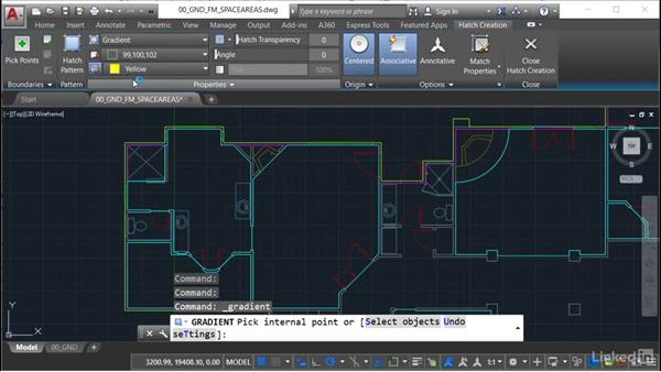 Using draw order: AutoCAD Facilities Management: Space Management