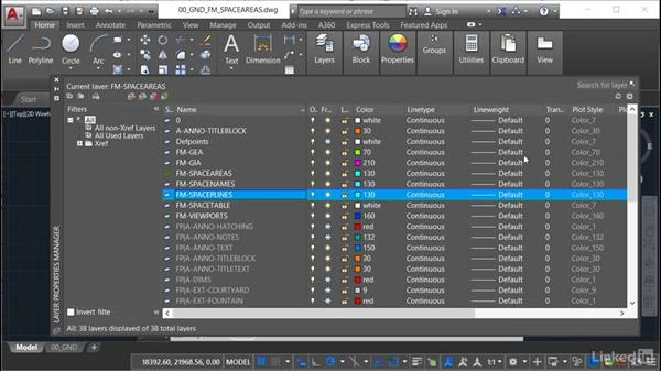 Using lineweight (LWT): AutoCAD Facilities Management: Space Management
