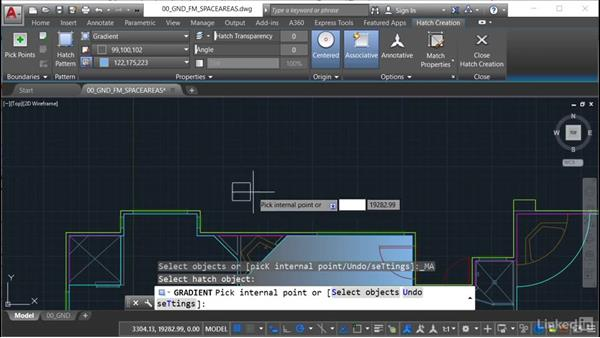 Creating a space legend on your drawing: AutoCAD Facilities Management: Space Management