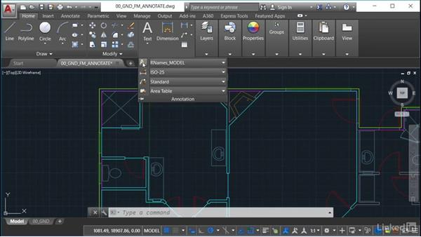 Text styles: AutoCAD Facilities Management: Space Management