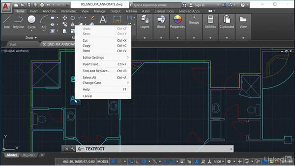 Using text fields: AutoCAD Facilities Management: Space Management