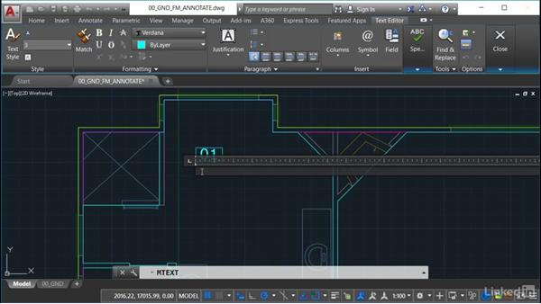 Setting up space text on the drawing: AutoCAD Facilities Management: Space Management