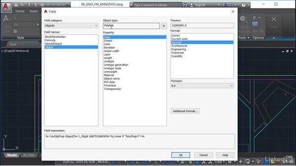 Using text symbols: AutoCAD Facilities Management: Space Management