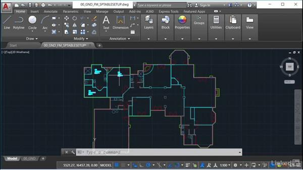 Setting up the space table style: AutoCAD Facilities Management: Space Management