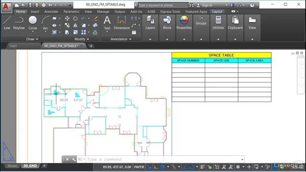 Locating polyline area data: AutoCAD Facilities Management: Space Management