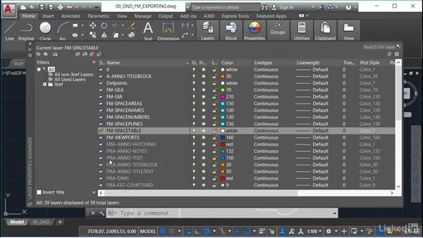Exporting space table data to Excel: AutoCAD Facilities Management: Space Management
