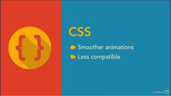 JavaScript or CSS for animation: jQuery for Web Designers