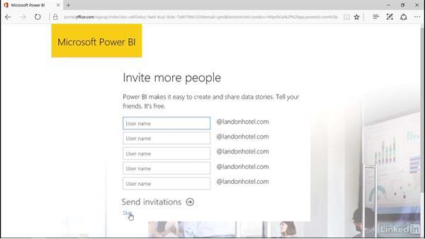 Signup for Power BI: Power BI Pro Essential Training