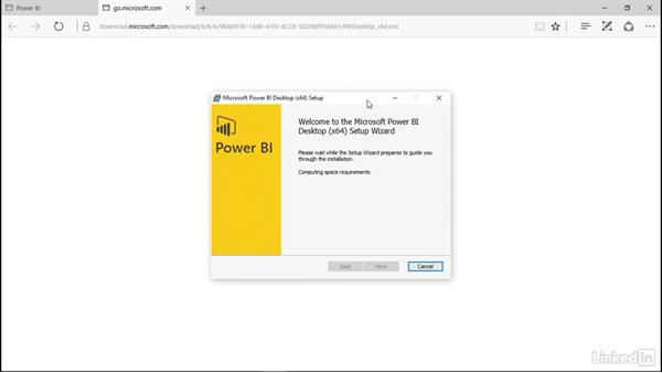 Install Power BI Desktop: Power BI Pro Essential Training
