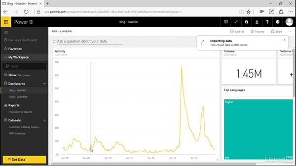 Connect to a sample: Power BI Pro Essential Training